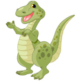 of cute presenting dinosaur vector image