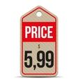 Price tag brown paper vector image