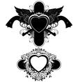 set of ornamental elements vector image
