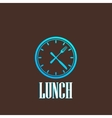 with lunch time icon vector image