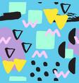 universal memphis seamless pattern endless vector image