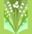 modern stylized flower background with lily of the vector image vector image