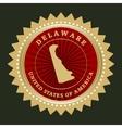 Star label Delaware vector image