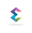 Letter E geometric logo vector image