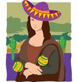 Mona Lisa sombrero vector image