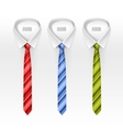 Set of Tied Striped Colored Silk and Bow Ties vector image