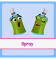Spray funny characters on a blue background vector image