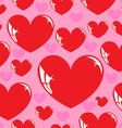 seamless wallpaper heart vector image