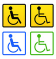 disabled wheelchair sign vector image vector image