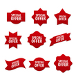 advertising stickers and banners vector image vector image