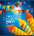 carnival party fireworks card vector image