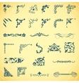 Decorative elements Angle design Big set vector image
