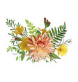 flower bunch airy wreath bouquet of garden yellow vector image