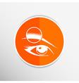 Human eye isolated eye eyebrow human female makeup vector image
