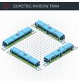 isometric city tram vector image