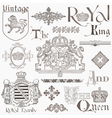 Set of Vintage Royalty Design Elements vector image