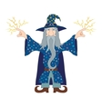 Wizard launches lightning vector image vector image
