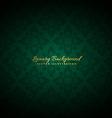 beautiful green luxury background vector image
