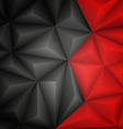Abstract geometrical black background vector image