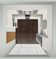 Luxury Kitchen Top View Realistic Image vector image vector image