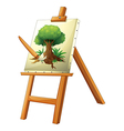 A painting of a tree vector image vector image