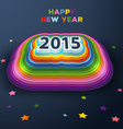 2015 colorful paper decor vector image
