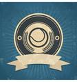 Retro Tennis Ball Emblem vector image vector image