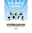 The winter sports Germany team vector image