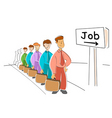 job seekers vector image vector image