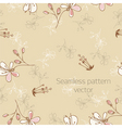seamless pattern with florets vector image