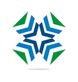 Logo Arrow Letter Line Design Symbol Graphic Icon vector image