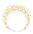 gold glitter wave abstract background vector image vector image