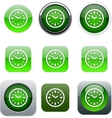 Time green app icons vector image
