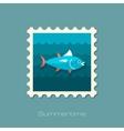 Tuna stamp Fishing Vacation vector image