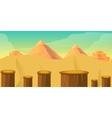 Arcade Game World Cartoon Desert with Blocks vector image