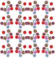 Beautiful flower seamless pattern vector image