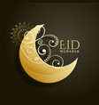 Creative screscent moon with floral decoration vector image