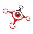 drone quadrocopter vector image