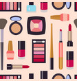 flat beauty fashoin decorative cosmetics vector image