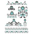 Flower decor elements vector image