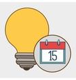 idea calendar date icon vector image