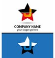 Letter J logo with star icon vector image