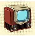 Retro TV home appliances vector image