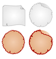 Round frames or Damaged Equipment and tattered vector image