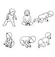 set of doodle children vector image
