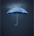 umbrella with heavy fall rain vector image vector image