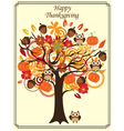 fall tree thanksgiving vector image