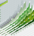 infographic set elements in green vector image vector image