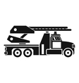 Fire engine icon simple style vector image