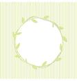 Green Leaf Round Frame vector image vector image